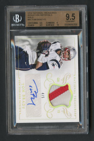 2014 National Treasures Gold Tom Brady Auto Patch /5 #MS-TB-BGS 9.5 Gem Mint w/10