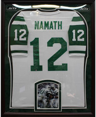 1969 New York Jets Framed Team Signed Joe Namath Jersey w/24 Signatures