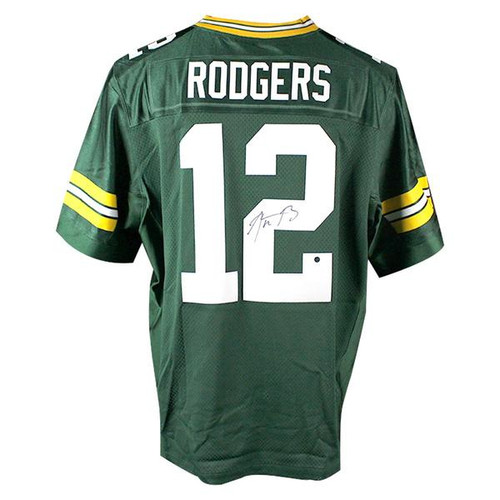 Aaron Rodgers Green Bay Packers Auto Green Nike Elite Authentic Jersey