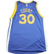 steph curry auto jersey blue