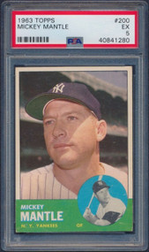 1963 Topps Mickey Mantle #200 HOF PSA 5 - Centered