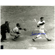 Ted Williams Signed Black and White Last at Bat-Green Diamond Auth.