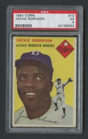 1954 Topps Jackie Robinson #10 HOF PSA 5 - Centered
