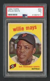 1959 Topps Willie Mays #50 HOF PSA 7 - Centered & High-End