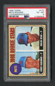 1968 Topps Nolan Ryan RC Rookie HOF PSA 6 - Centered