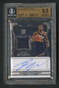2017 Dominion Donovan Mitchell RC Rookie Patch Auto RPA BGS 9.5 Gem Mint
