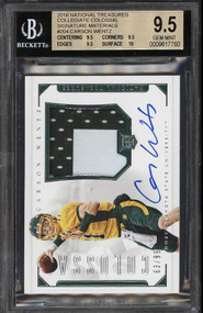 2016 National Treasures Carson Wentz Rookie RC Patch Auto RPA BGS 9.5 Gem Mint