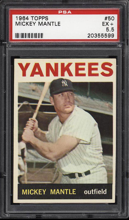 1964 Topps Mickey Mantle #50 HOF PSA 5.5