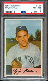 1954 Bowman Yogi Berra #161 PSA 8 - Centered