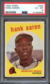 1959 Topps Hank Aaron #380 HOF PSA 6 - Centered & High-End