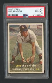1957 Topps Luis Aparicio #7 HOF PSA 6 - Centered
