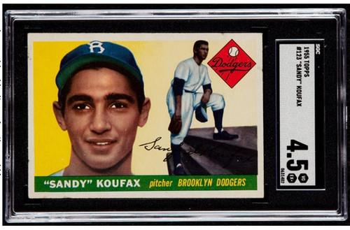 1955 Topps Sandy Koufax RC Rookie #123 HOF SGC 4.5 - Centered