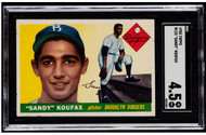 1955 Topps Sandy Koufax RC Rookie #123 HOF SGC 4.5 - Centered