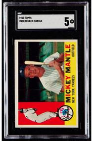 1960 Topps Mickey Mantle #350 HOF SGC 5 - High End