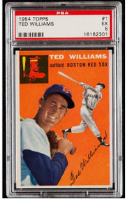 1954 Topps Ted Williams #1 HOF PSA 5 - Centered and High-End