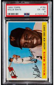 1955 Topps Willie Mays #194 HOF PSA 6