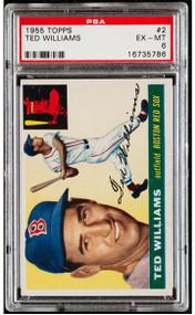 1955 Topps Ted Williams #2 HOF - PSA 6
