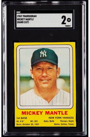 1969 Transogram Mickey Mantle SGC 2 - Centered