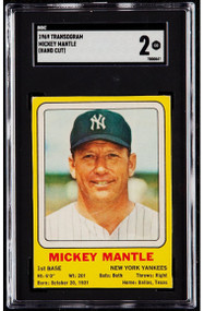 1969 Transogram Mickey Mantle SGC 2 - Centered