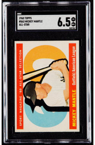 1960 Topps Mickey Mantle All-Star #563 SGC 6.5 - Centered & High-End