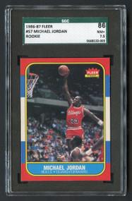 1986 Fleer Michael Jordan #57 RC Rookie HOF SGC 7.5 Centered & High-End