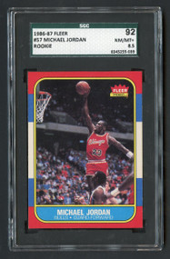 1986 Fleer Michael Jordan #57 RC Rookie HOF SGC 8.5-Centered & High-End