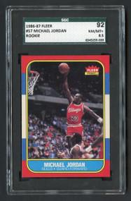 1986 Fleer Michael Jordan #57 RC Rookie HOF SGC 8.5-Centered & High-End