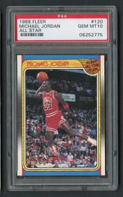 1988 Fleer Michael Jordan All Star #120 PSA 10 Gem Mint