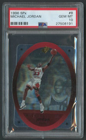 1996 SPx Michael Jordan #8 HOF PSA 10 Gem Mint