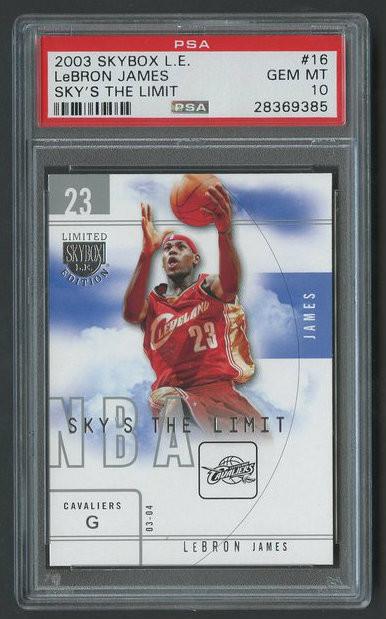 2003 SkyBox L.E. Lebron James #16 RC Rookie PSA 10 Gem Mint