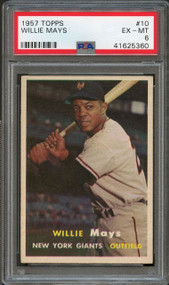 1957 Topps Willie Mays #10 HOF PSA 6 - Centered