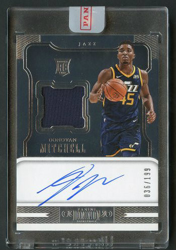 2017 Dominion Donovan Mitchell RC Rookie Patch Auto RPA Uncirculated