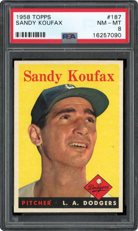 1958 Topps Sandy Koufax #187 HOF PSA 8 - Centered & High-End