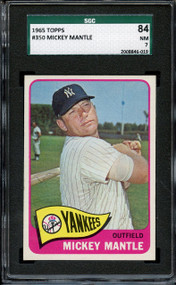 1965 Topps Mickey Mantle #350 HOF SGC 7 - Centered & High-End