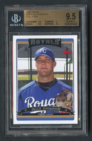 2006 Topps Alex Gordon #297 BGS 9.5 Gem Mint Error