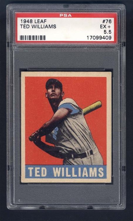 1948 Leaf Ted Williams #75 HOF PSA 5.5 - Centered