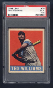 1948 Leaf Ted Williams #75 HOF PSA 5.5 - Centered