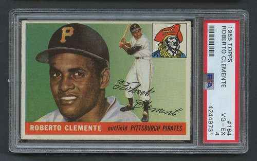 1955 Topps Roberto Clemente RC Rookie #164 HOF PSA 4 - High-End