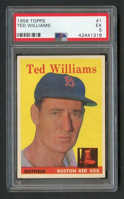 1956 Topps Ted Williams #1 HOF PSA 5 - Centered