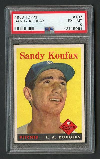 1958 Topps Sandy Koufax #187 HOF PSA 6 - Centered & High-End Qualities