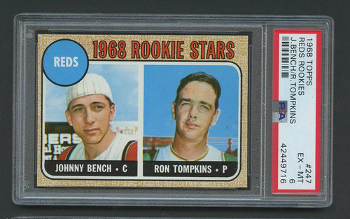 1968 Topps Johnny Bench RC Rookie HOF #247 PSA 6 High-End