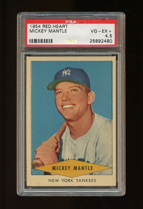 1954 Red Heart Mickey Mantle PSA 4.5
