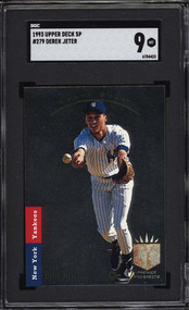 1993 Upper Deck SP Derek Jeter RC Rookie #279 SGC  9 Mint