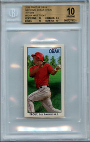 2010 Tristar Obak VIP Mini Mike Trout RC Rookie BGS 10 Pristine