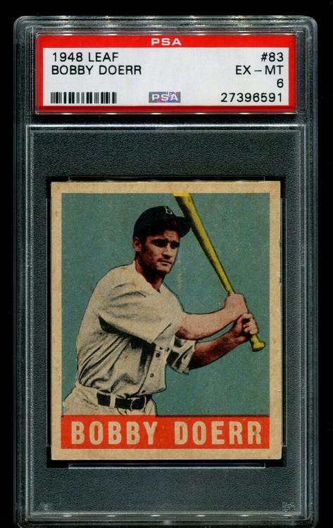 1948 Leaf Bobby Doerr #83 HOF PSA 6 - Centered