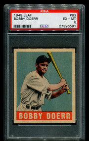 1948 Leaf Bobby Doerr #83 HOF PSA 6 - Centered