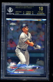 2018 Topps Chrome Update Gleyber Torres RC Rookie #HMT80 BGS Black Label Pristine