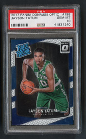 2017 Donruss Optic Jayson Tatum RC Rookie #198 PSA 10 Gem Mint
