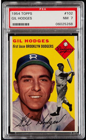 1954 Topps Gil Hodges #102 PSA 7 - High-End