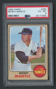 1968 Topps Mickey Mantle #280 HOF PSA 6
